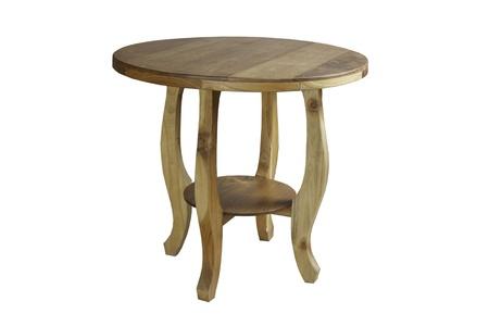 白い背景の上の木製のテーブル