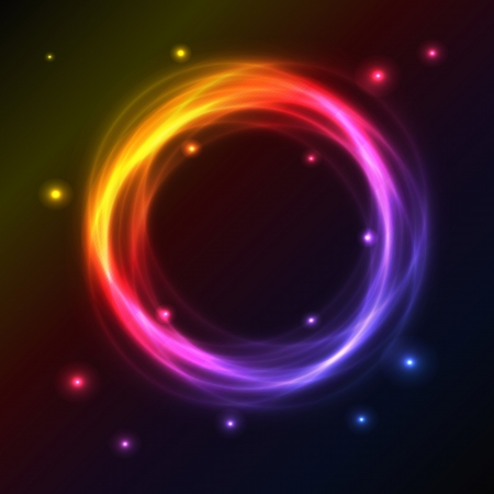 Abstract background with colorful plasma circle effect Stock Vector - 16805891