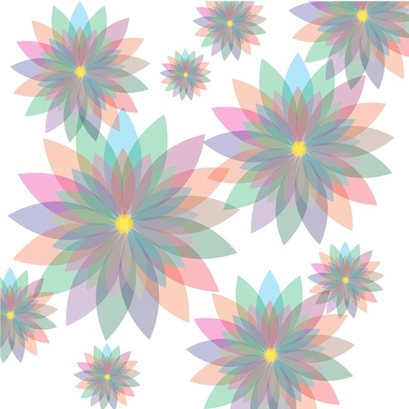 Seamless floral pastel pattern with colorful flowers Stock Vector - 16805914