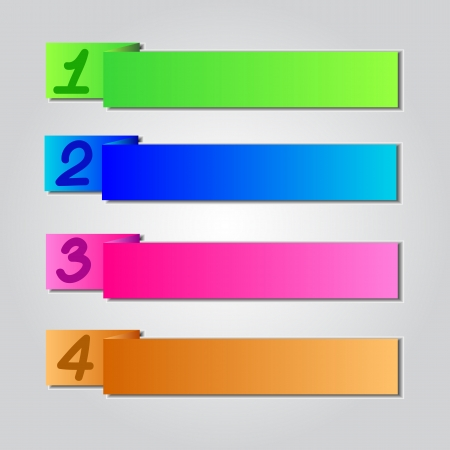 Colorful Origami Style Number Banner & Card Vector