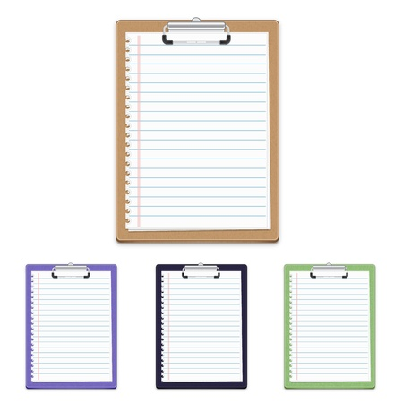 Clipboard with blank paper isolated on white background, vector illustration Stock Vector - 17164280
