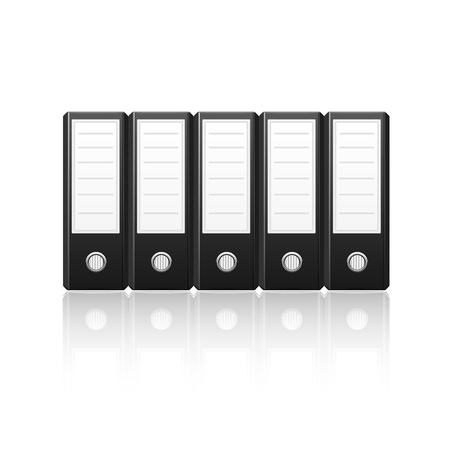 Black binders isolated on white background,vector illustration Stock Vector - 17476632