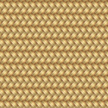 Abstract generated wicker pattern seamless mat background, vector illustration Vector