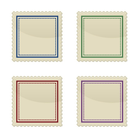 Set of stamp, square shape, vector illustration Stock Vector - 17581103