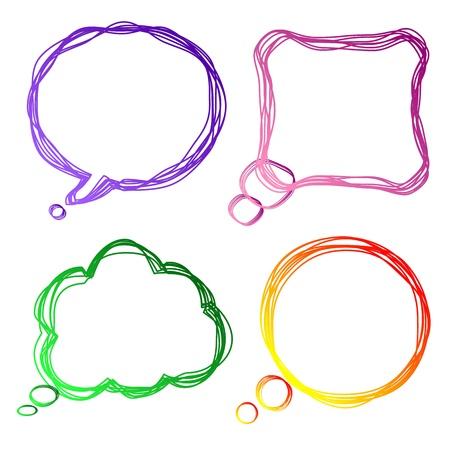 мысль: Набор красочных речи пузыри, иллюстрации