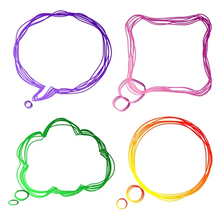 Set of colorful speech Bubbles,  illustration Vector