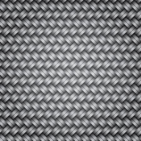 cf: Metallo fibra texture di fondo di vimini, illustrazione