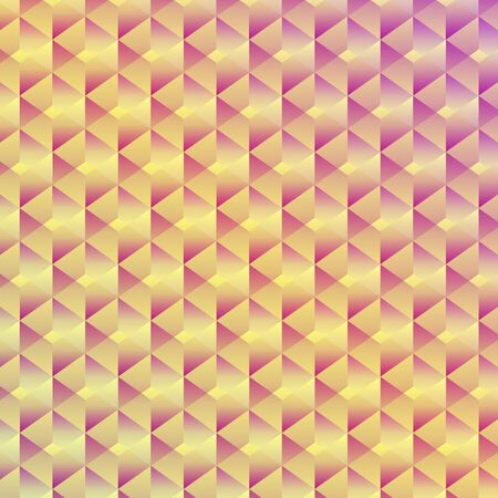 Abstract seamless geometric cubic background,  illustration Vector