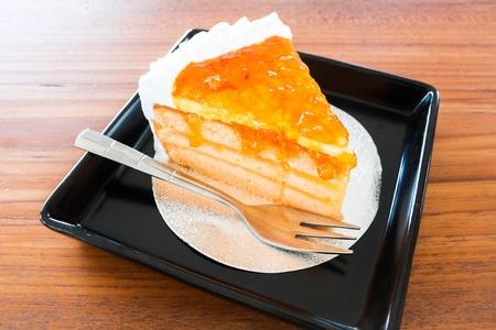 Homemade bakery orange cake photo