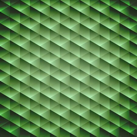 Green emerald geometric cubic background, vector illustration Vector