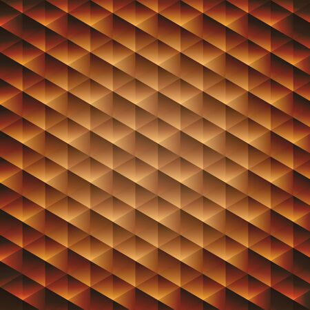 Gold gradient geometric cubic background, vector illustration Stock Vector - 18524995