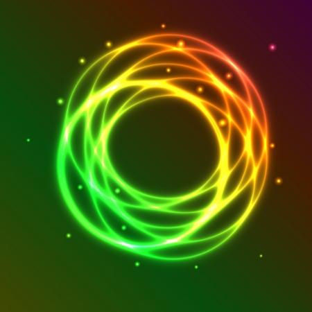 Abstract background with colorful plasma circle effect, vector illustration Vector