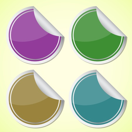 Set of colourful circle stickers, vector illustration Stock Vector - 18571158