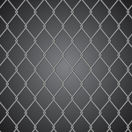 Metal fence on dark background Stock Vector - 18853195