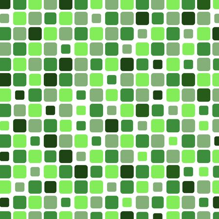 Mosaic with square green background, vector illustration Vector