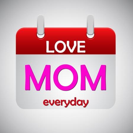 Love mom everyday calendar icon