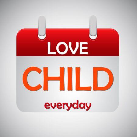 mindennapi: Szerelem gyermek mindennapi naptár ikonra