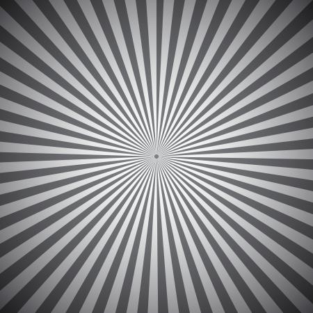 Grijze radiale stralen abstracte achtergrond, vector illustratie