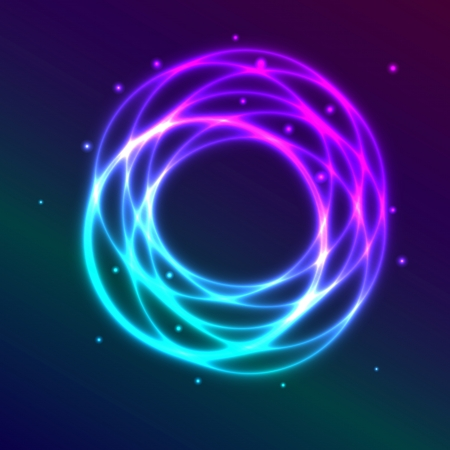 Abstract background with blue-purple shadingl plasma circle effect, vector illustration Vector