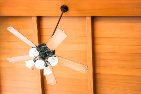 ceiling fan: Beautiful hanging ceiling fan of oriental house Stock Photo
