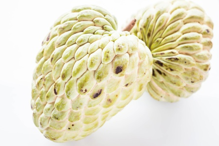 custard apple: Couple fresh custard apple with geen peel