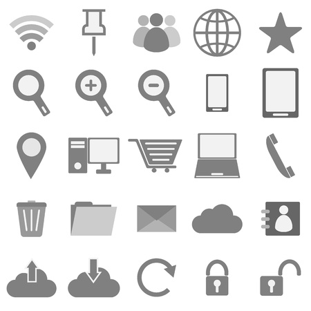 Internet icons on white background, stock vector Stock Vector - 22174206