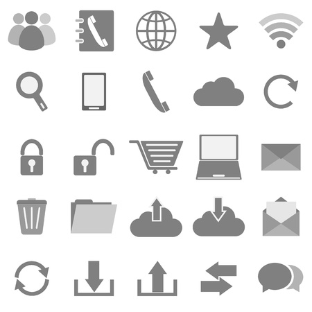 communication icons: Communication icons on white background, stock vector