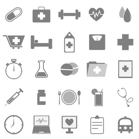 health icons: Health icons on white background, stock vector