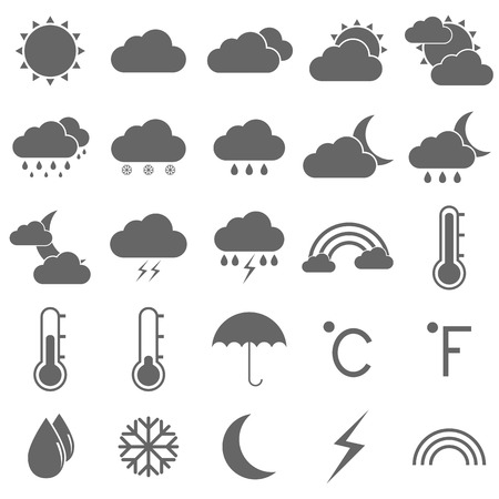Weather icons on white background Stock Vector - 22508850