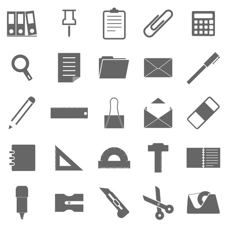 Stationary icons on white background Stock Vector - 22508853