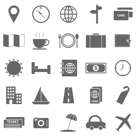 Travel icons on white background Stock Vector - 22508864