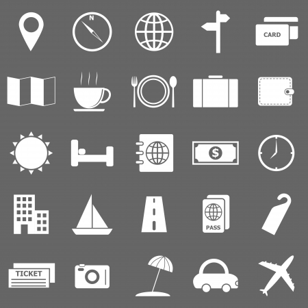 Travel icons on gray background Stock Vector - 22508865
