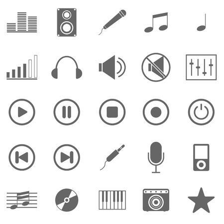 Music icons on white background Stock Vector - 22508873