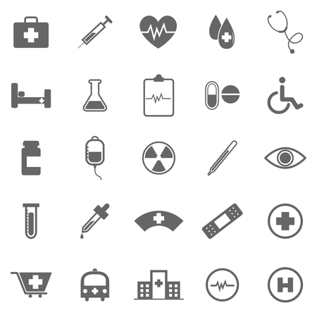 first aid sign: Medical icons on white background, stock vector