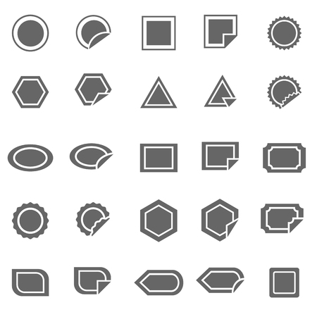 Label icons on white background, stock vector Stock Vector - 22698631
