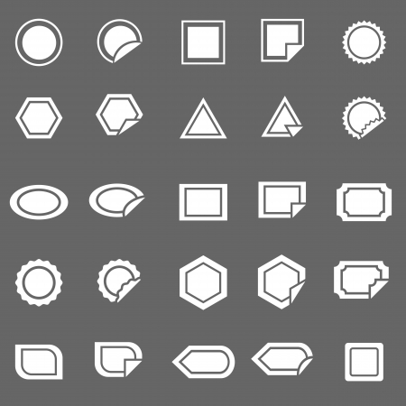 Label icons on gray background, stock vector Stock Vector - 22698632
