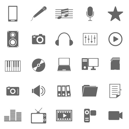 Media icons on white background, stock vector Stock Vector - 22962794