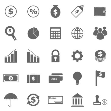 Finance icons on white background, stock vector Vector