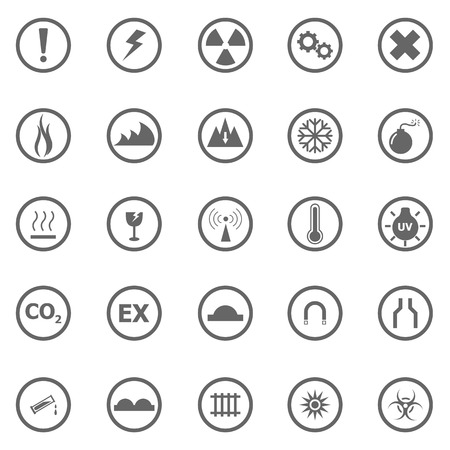 Warning sign icons on white background, stock vector Stock Vector - 22963418