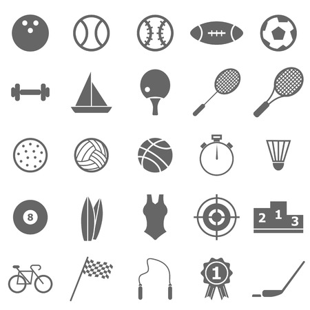 Sport icons on white background, stock vector Illustration