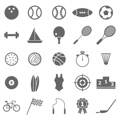 Sport icons on white background, stock vector Illustration