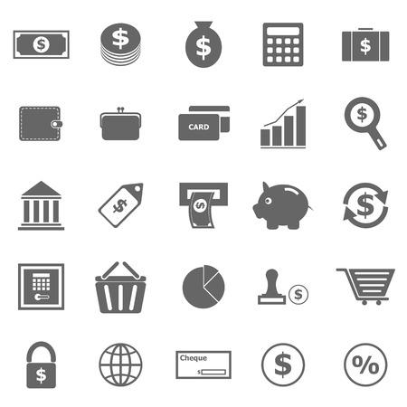 dollaro: Icone di denaro su sfondo bianco, stock vector