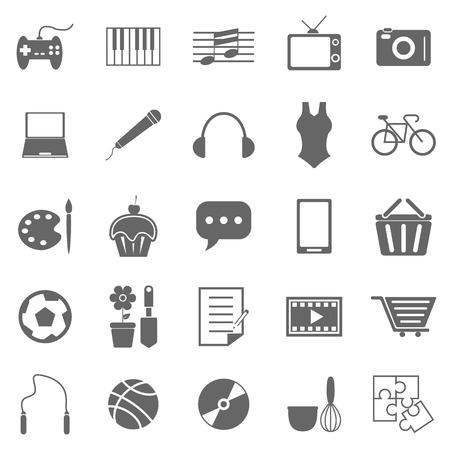Hobby icons on white background Illustration