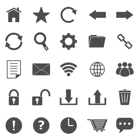 Tool bar icons on white background, stock vector