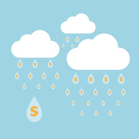 Concept idea of money raining Stock Vector - 23645359
