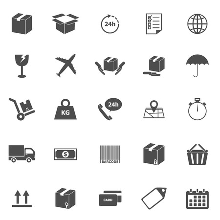 Shipping icons on white background, stock vector