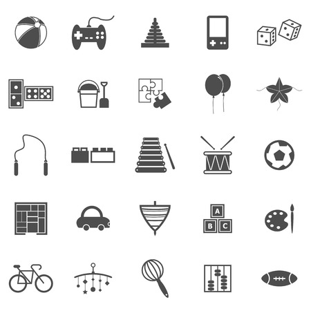 spinning: Toy icons on white background, stock vector  Illustration