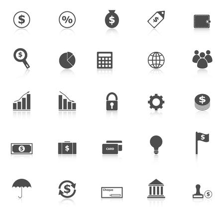 Financiering van pictogrammen met weerspiegelen