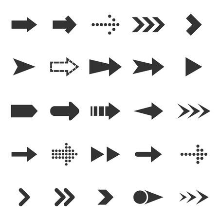 score under: Arrow icons on white background