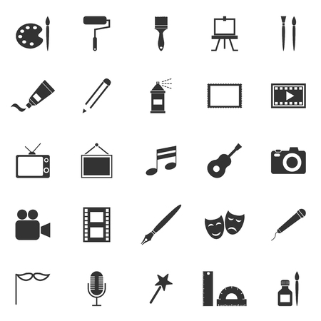 Art icons on white background